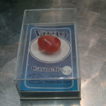 gemstones of the world collection Virgo - Carnelian  gemstone in case LC-64